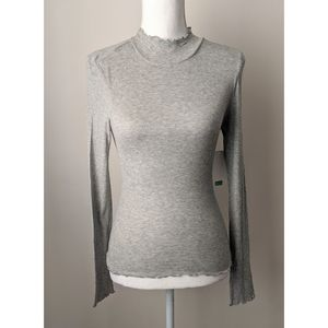 NEW Abound Gray Stretch High Collar Top XS